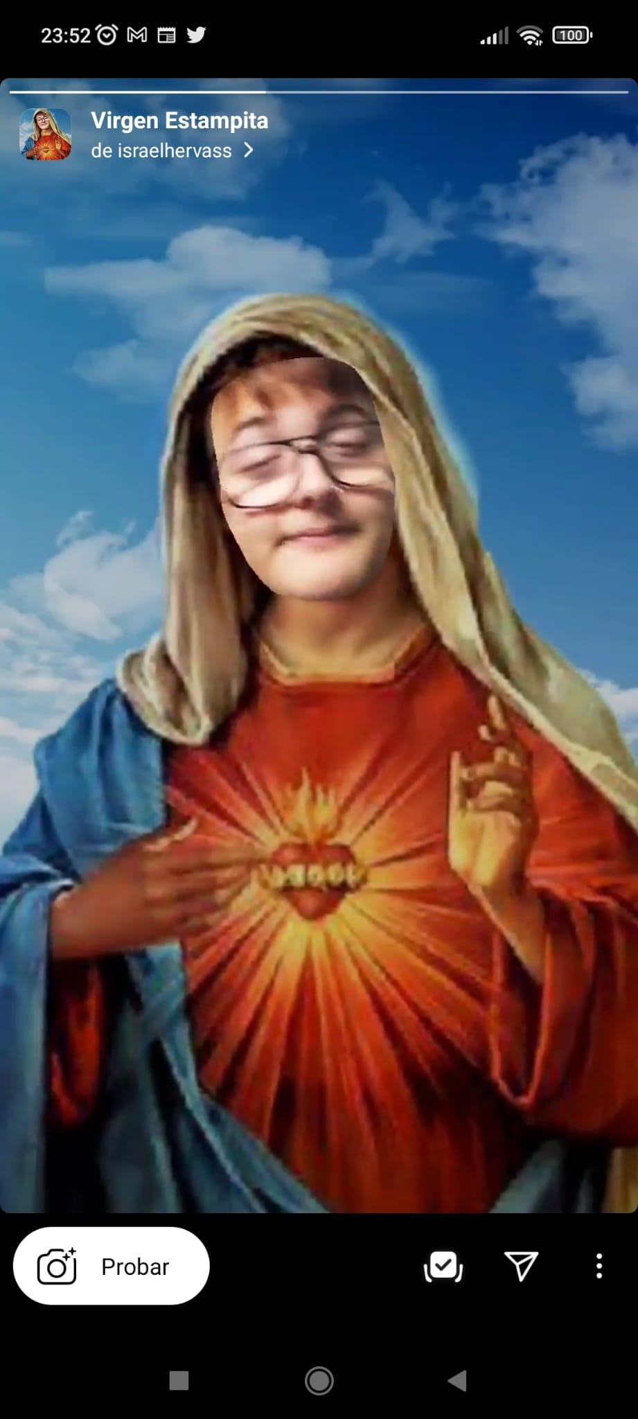 Virgen Estampita